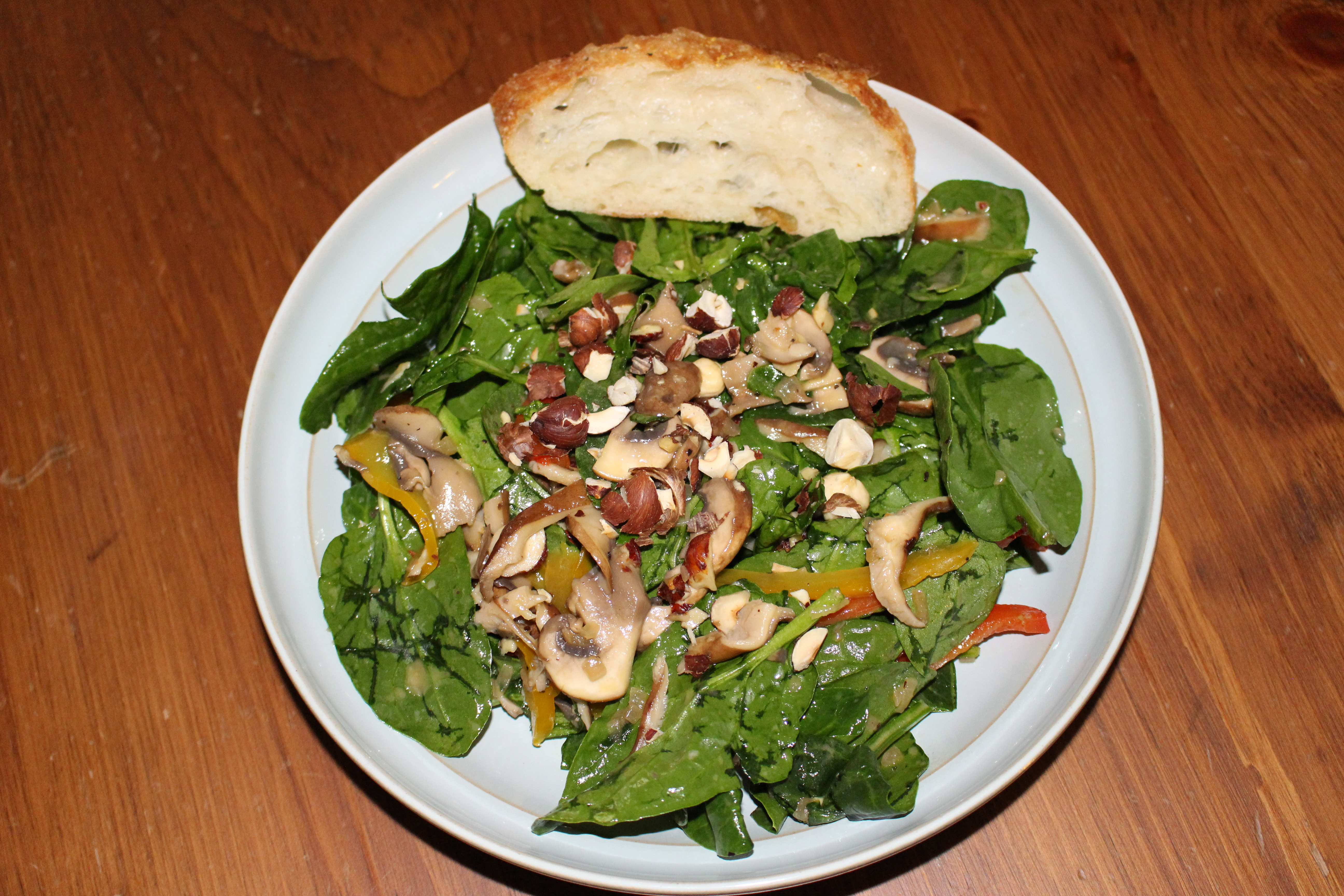 ... salad warm bacon potato salad warm mushroom salad with hazelnuts